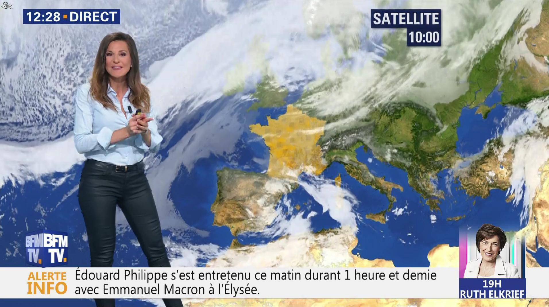 Daniela Prepeliuc à la Météo. Diffusé à la télévision le 09/10/18.