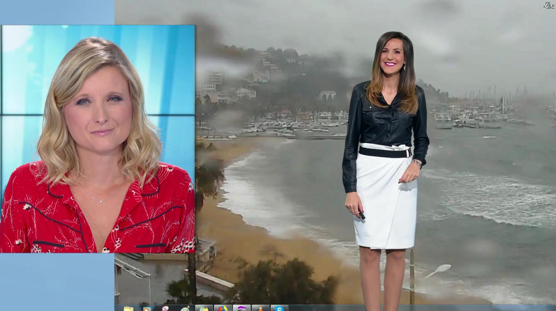 Daniela Prepeliuc à la Météo. Diffusé à la télévision le 10/10/18.