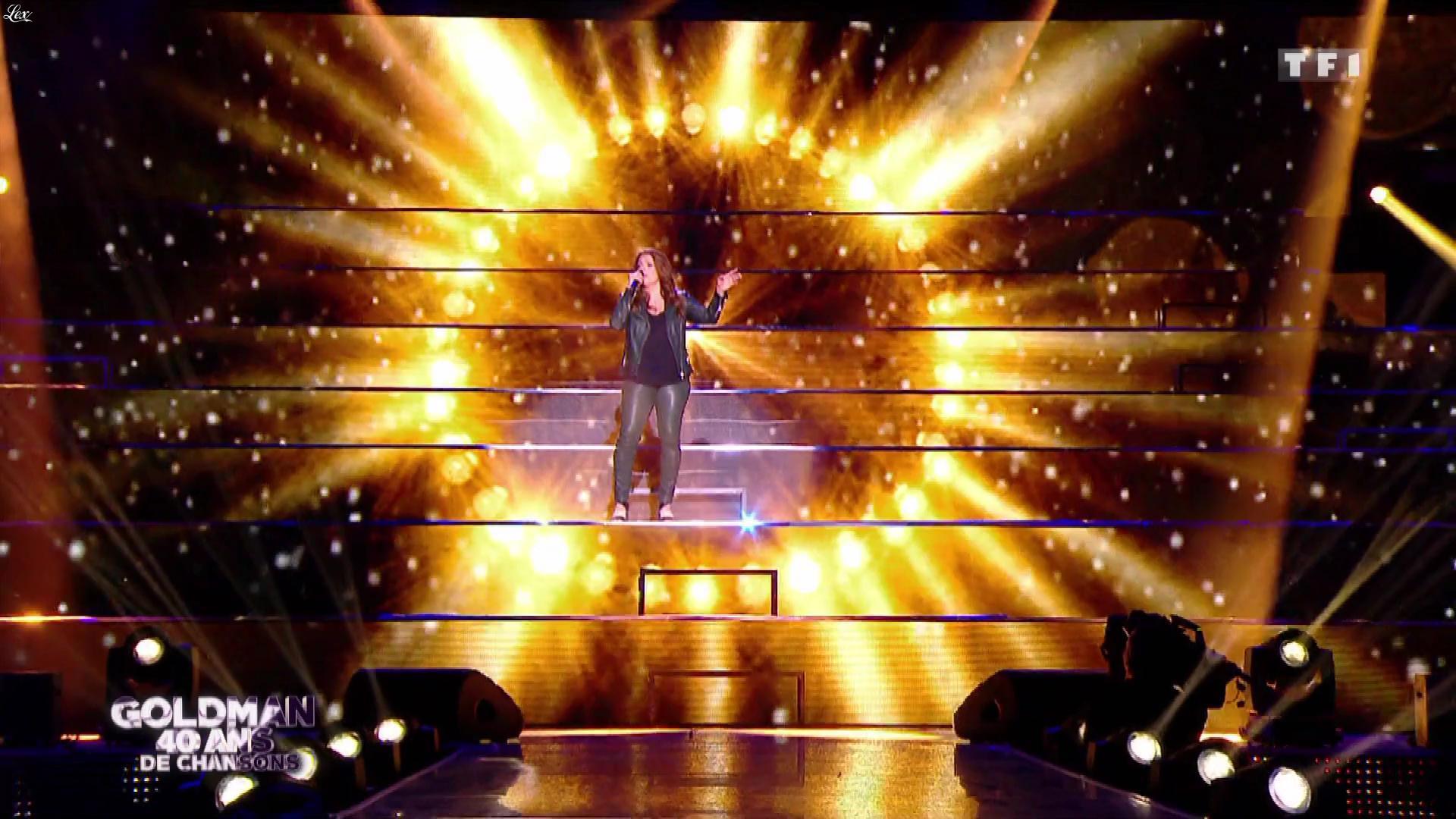Isabelle Boulay dans Goldman 40 Ans de Chansons. Diffusé à la télévision le 26/01/18.