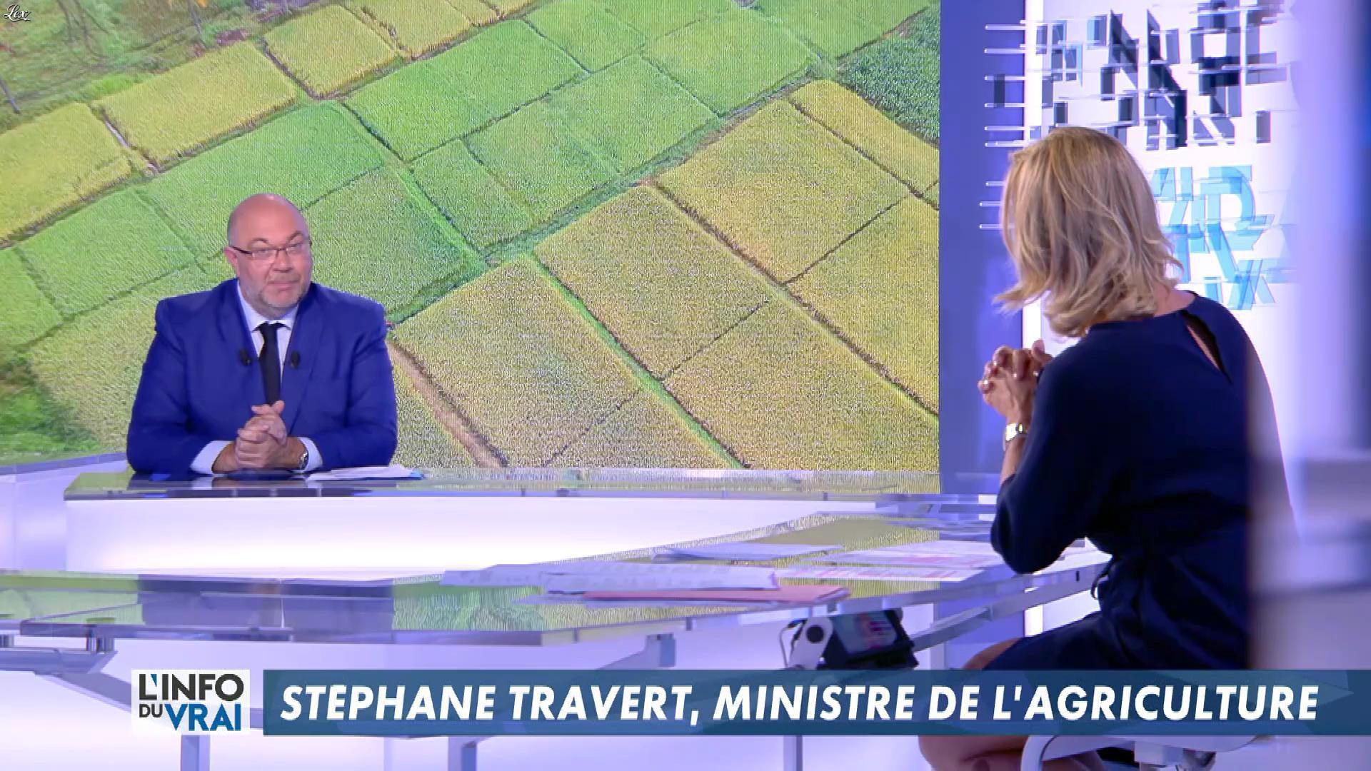 Laurence Ferrari dans l'Info du Vrai. Diffusé à la télévision le 17/06/18.