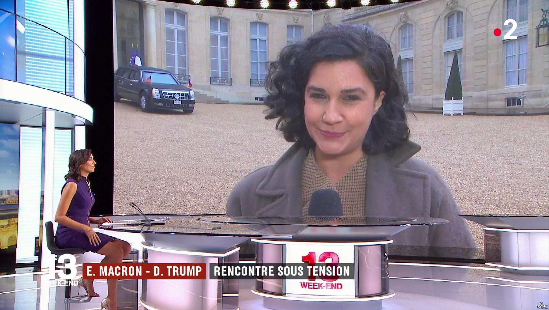 Leïla Kaddour dans le 13h. Diffusé à la télévision le 10/11/18.
