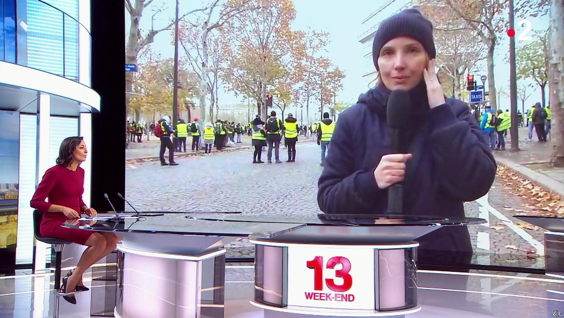 Leïla Kaddour dans le 13h. Diffusé à la télévision le 24/11/18.