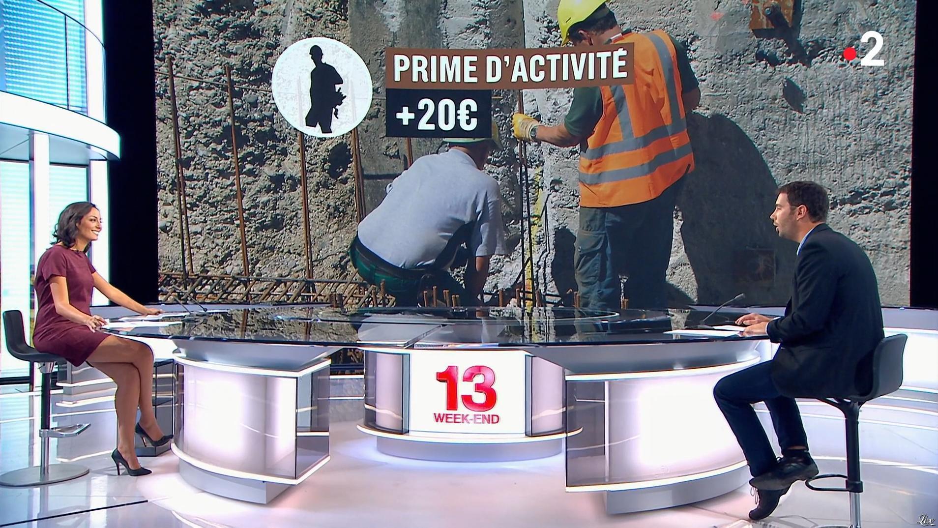 Leïla Kaddour dans le 13h. Diffusé à la télévision le 30/09/18.
