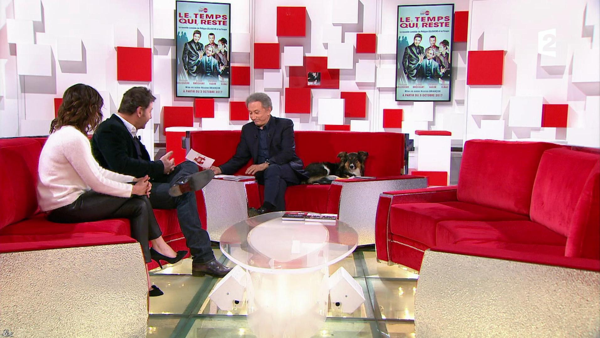 Noemie Elbaz dans Vivement Dimanche. Diffusé à la télévision le 19/11/17.