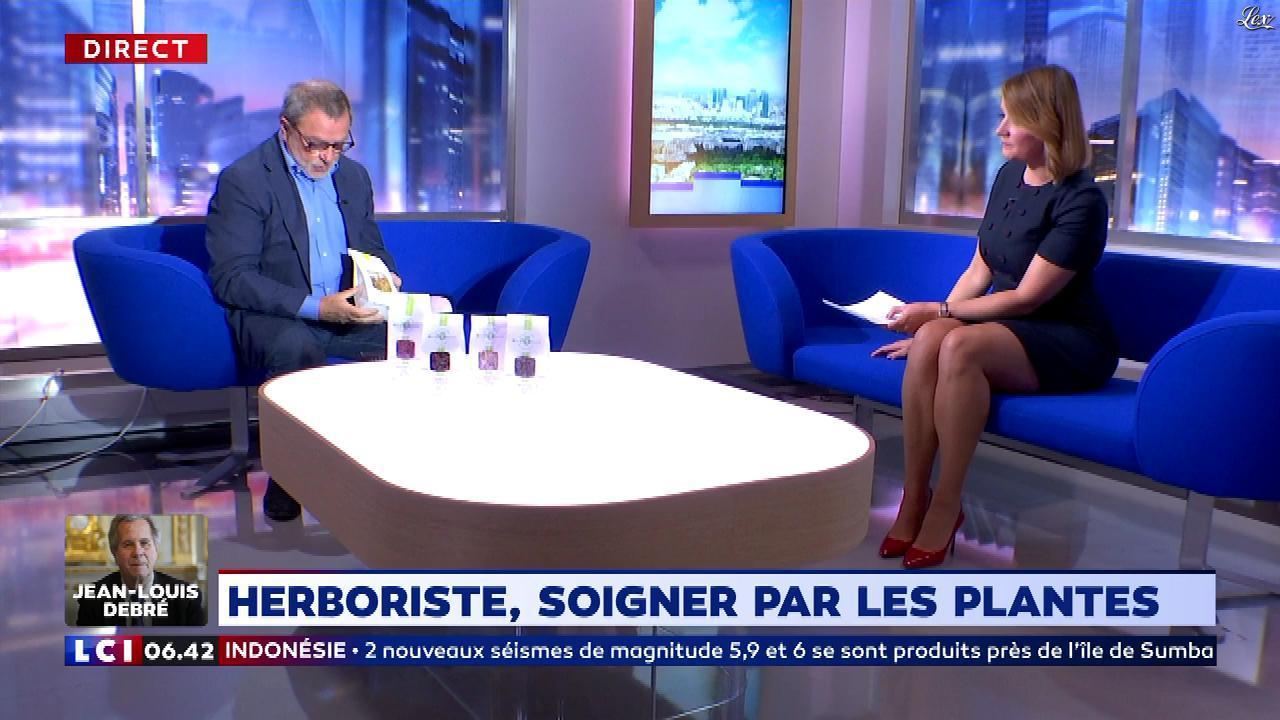 Pascale De La Tour Du Pin dans la Matinale. Diffusé à la télévision le 02/10/18.