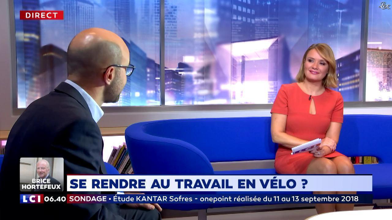 Pascale De La Tour Du Pin dans la Matinale. Diffusé à la télévision le 17/09/18.