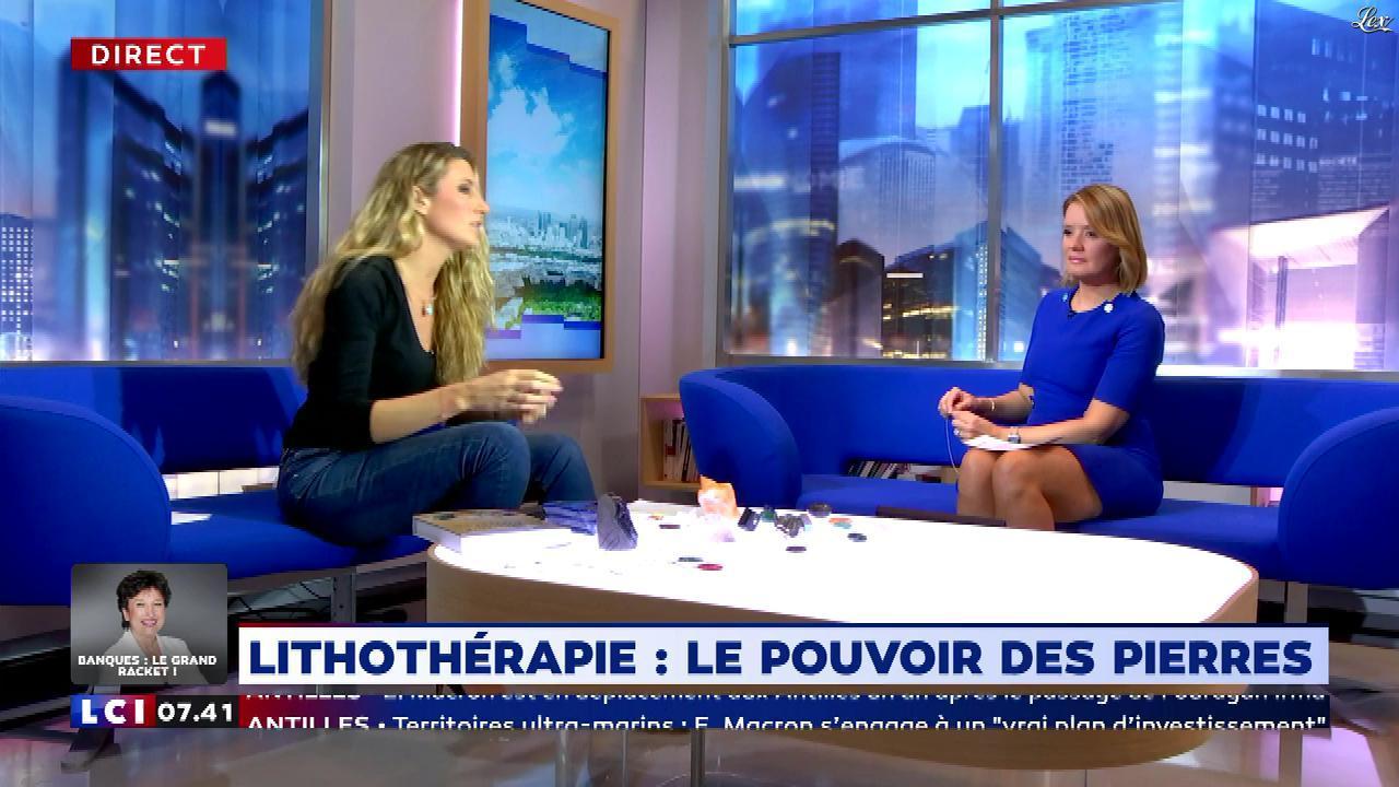 Pascale De La Tour Du Pin dans la Matinale. Diffusé à la télévision le 28/09/18.