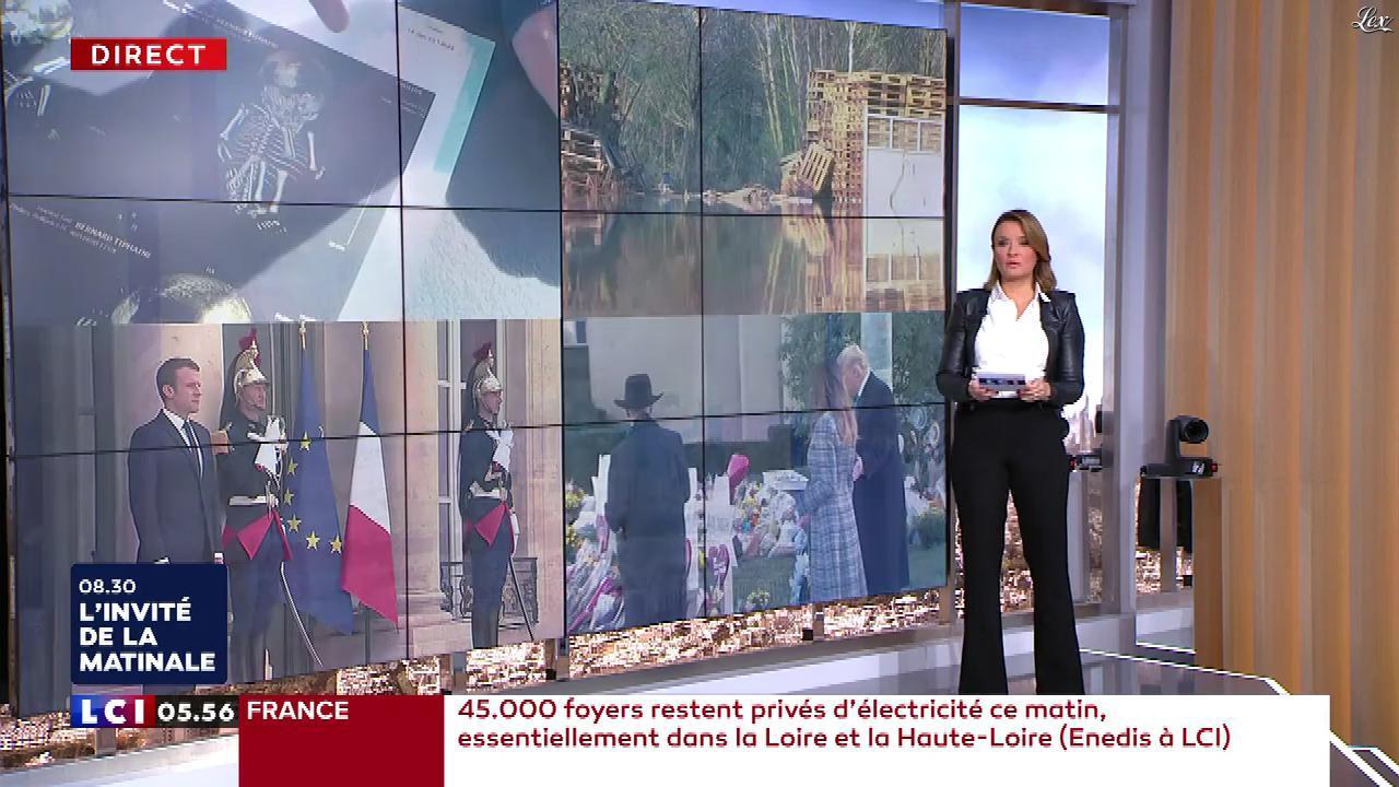 Pascale De La Tour Du Pin dans la Matinale. Diffusé à la télévision le 31/10/18.
