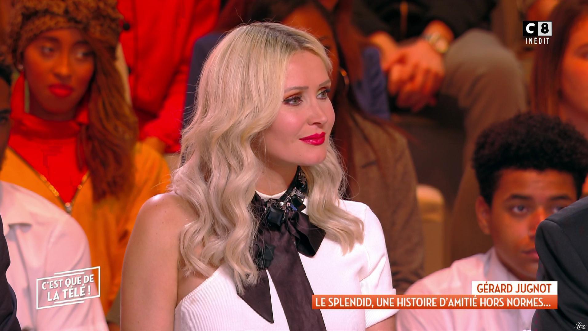 Tatiana Laurens Delarue dans c'est Que de la Télé. Diffusé à la télévision le 02/11/18.