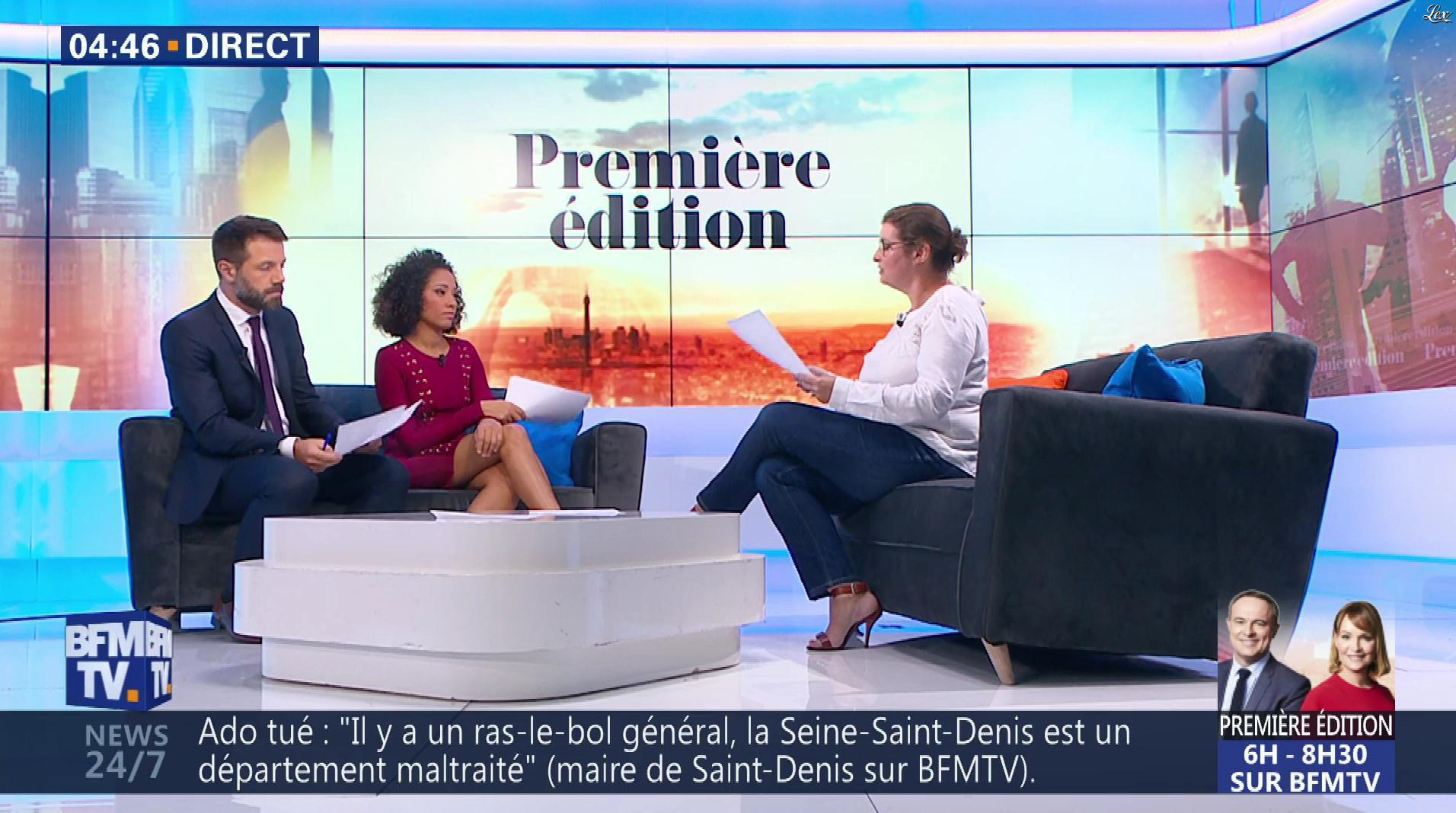 Virginie Sainsily dans Première Edition. Diffusé à la télévision le 19/09/18.