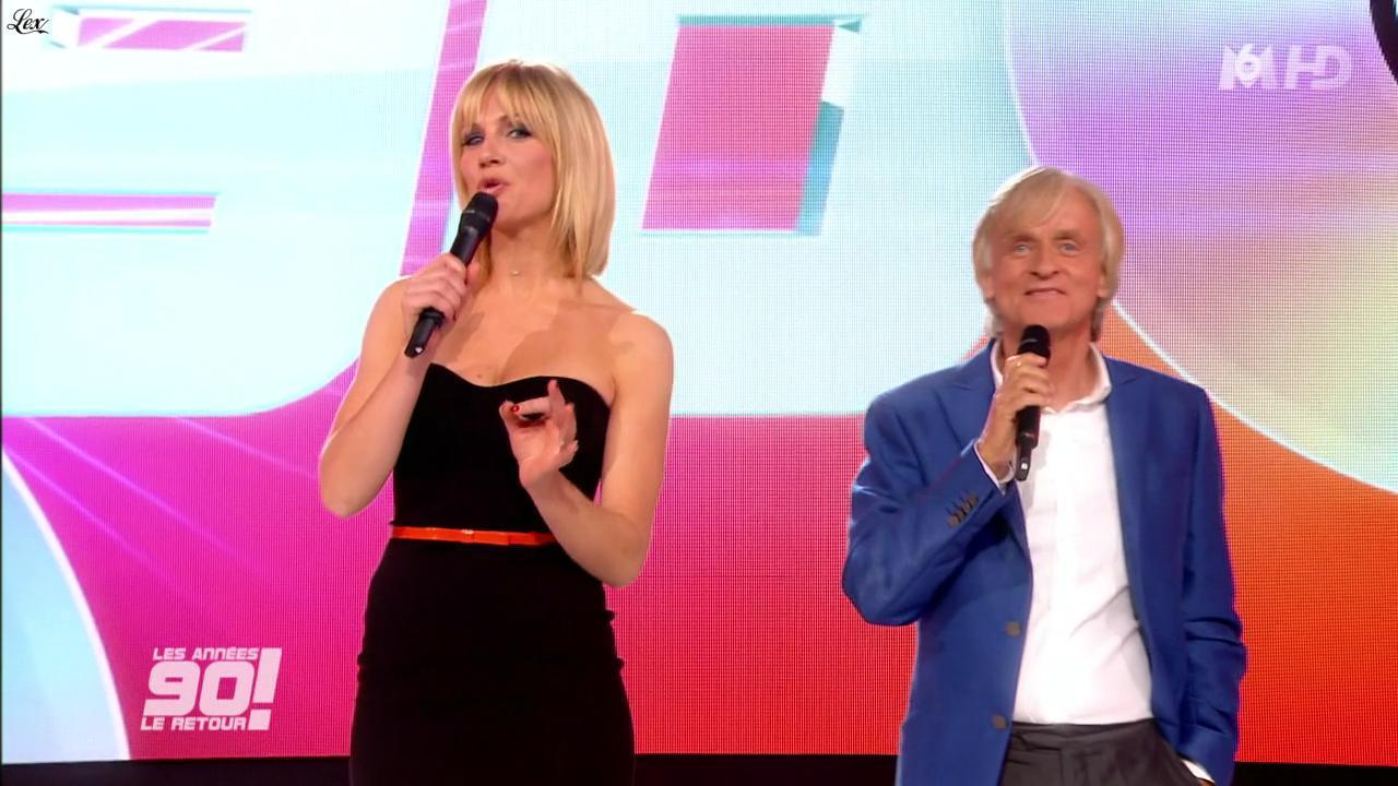 Sandrine Corman dans les Annees 90 le Retour. Diffusé à la télévision le 04/01/12.