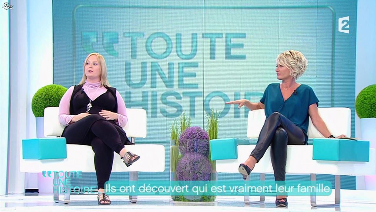 Sophie Davant dans Toute Une Histoire. Diffusé à la télévision le 11/10/11.