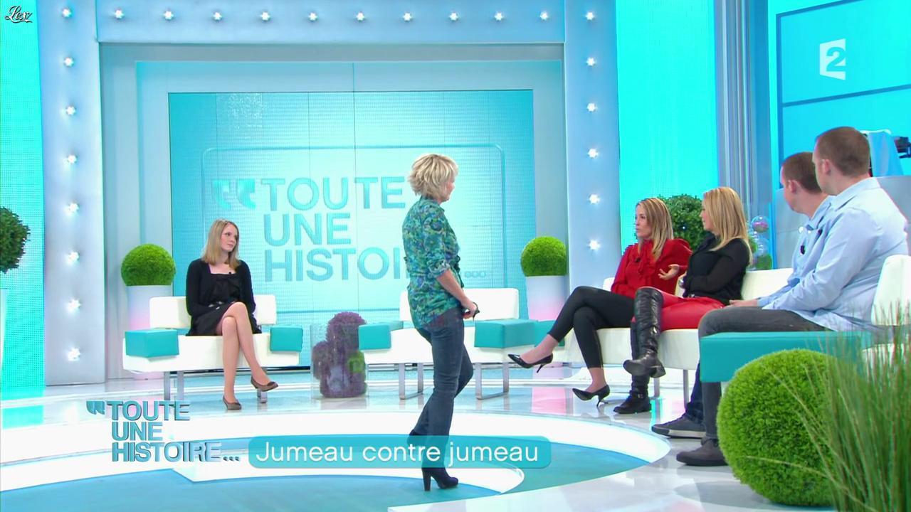 Anouk et Jenny dans Toute une Histoire. Diffusé à la télévision le 25/04/12.