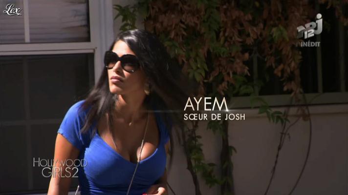Ayem dans Hollywood Girls. Diffusé à la télévision le 25/10/12.