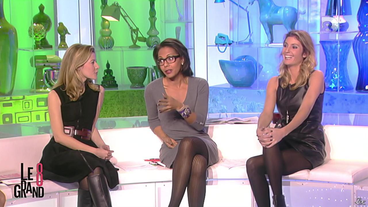 Caroline Ithurbide et Audrey Pulvar dans le Grand 8. Diffusé à la télévision le 28/11/12.