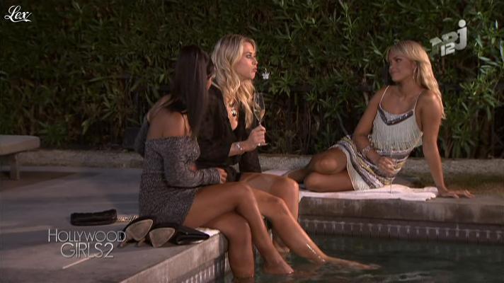 Caroline Receveur et Ayem dans Hollywood Girls. Diffusé à la télévision le 29/10/12.