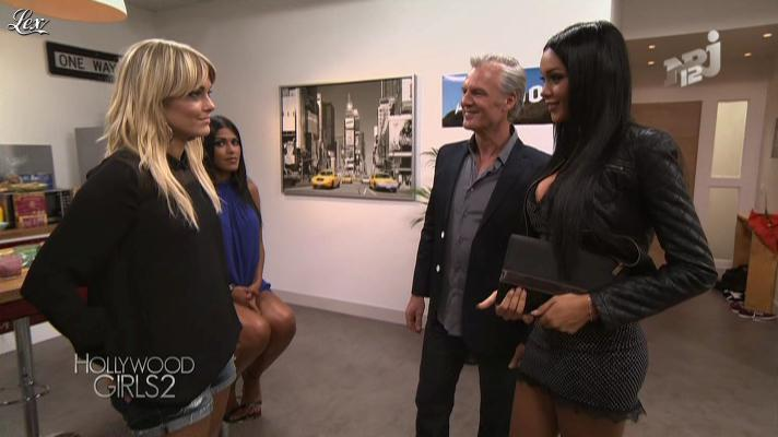 Caroline Receveur, Ayem et Nabilla Benattia dans Hollywood Girls. Diffusé à la télévision le 25/09/12.