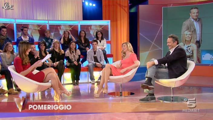 FederiÇa Panicucci et Silvia Toffanin dans Verissimo. Diffusé à la télévision le 15/01/11.