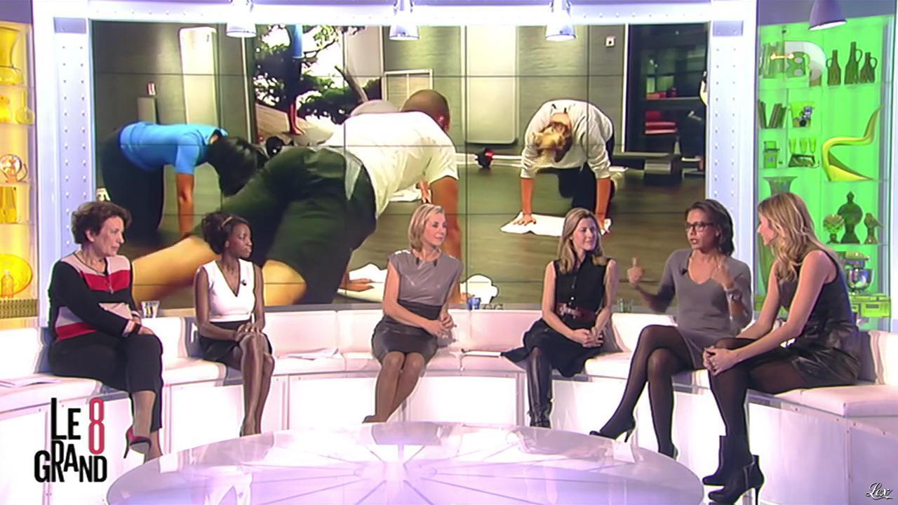 Laurence Ferrari, Caroline Ithurbide et Audrey Pulvar dans le Grand 8. Diffusé à la télévision le 28/11/12.