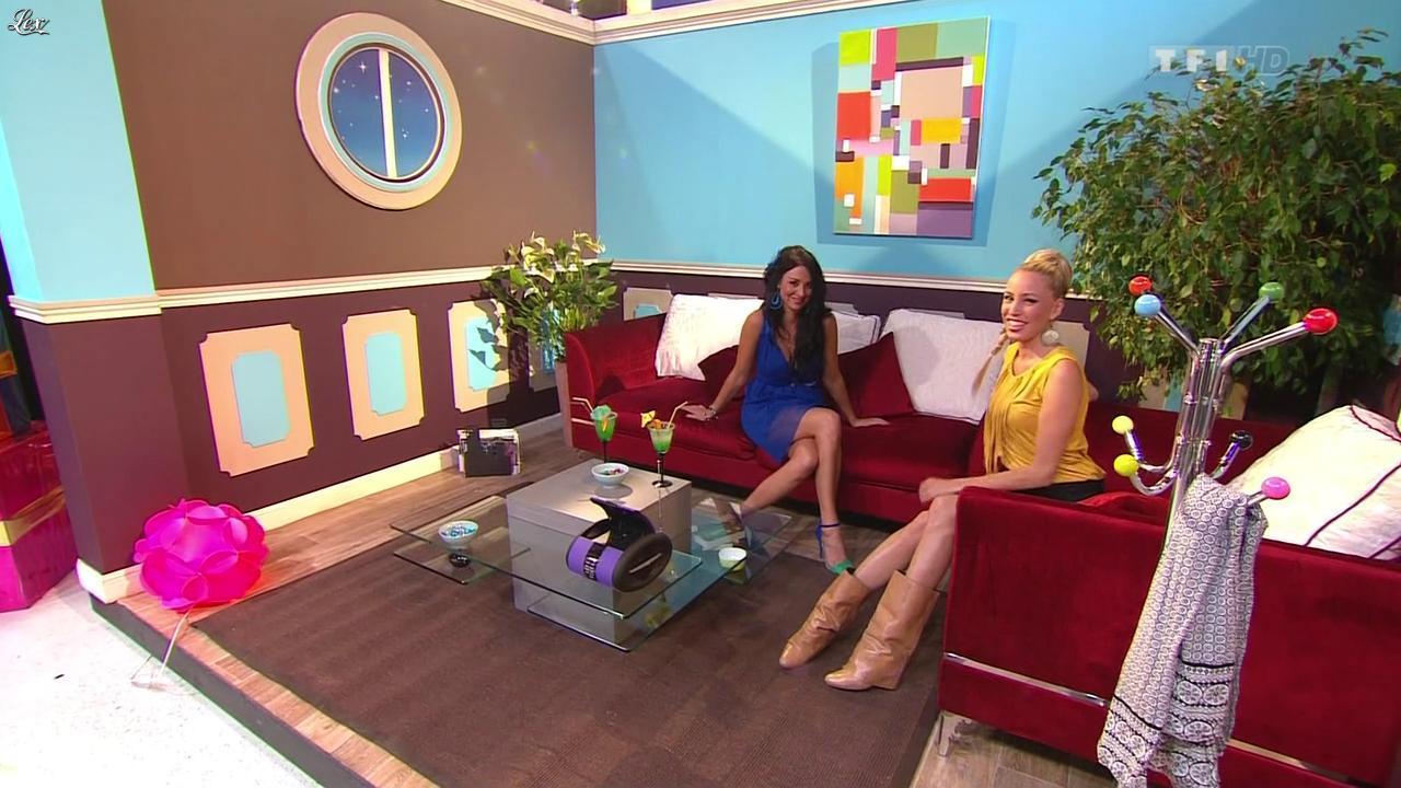 Les Gafettes, Fanny Veyrac et Nadia Aydanne dans le Juste Prix. Diffusé à la télévision le 15/10/12.