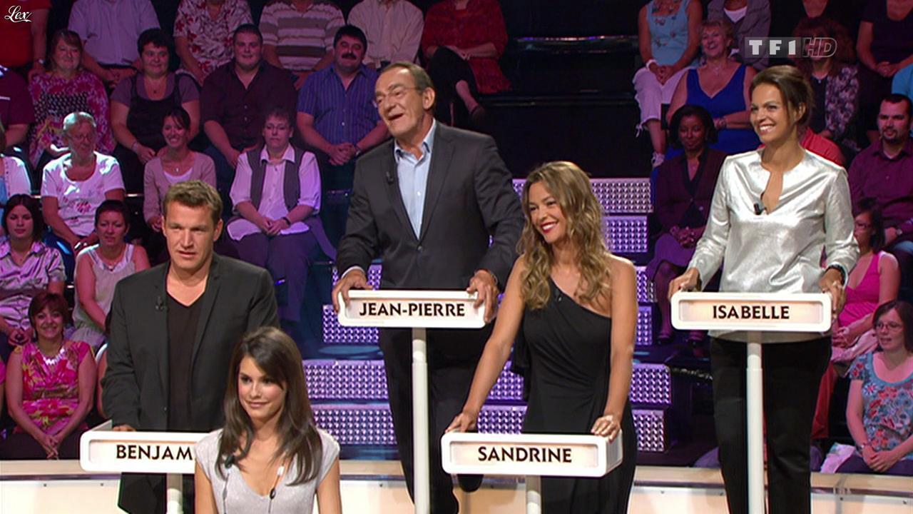 Sandrine Quétier et Marion Jollès dans le Grand Concours des Animateurs. Diffusé à la télévision le 17/09/11.
