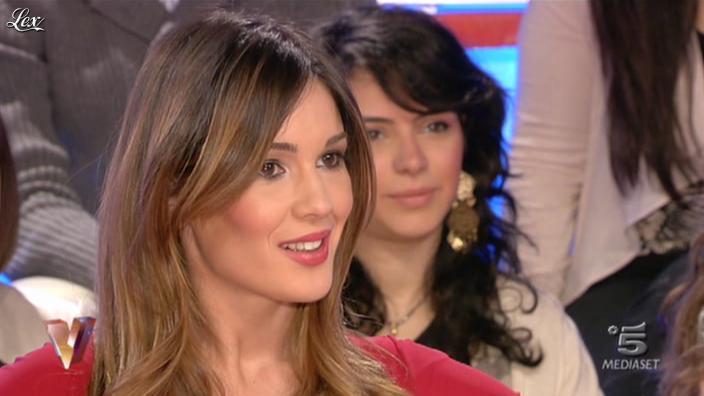 Silvia Toffanin dans Verissimo. Diffusé à la télévision le 15/01/11.