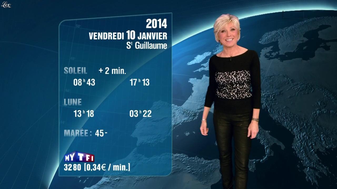Evelyne Dhéliat à la Météo de 20h. Diffusé à la télévision le 09/01/14.