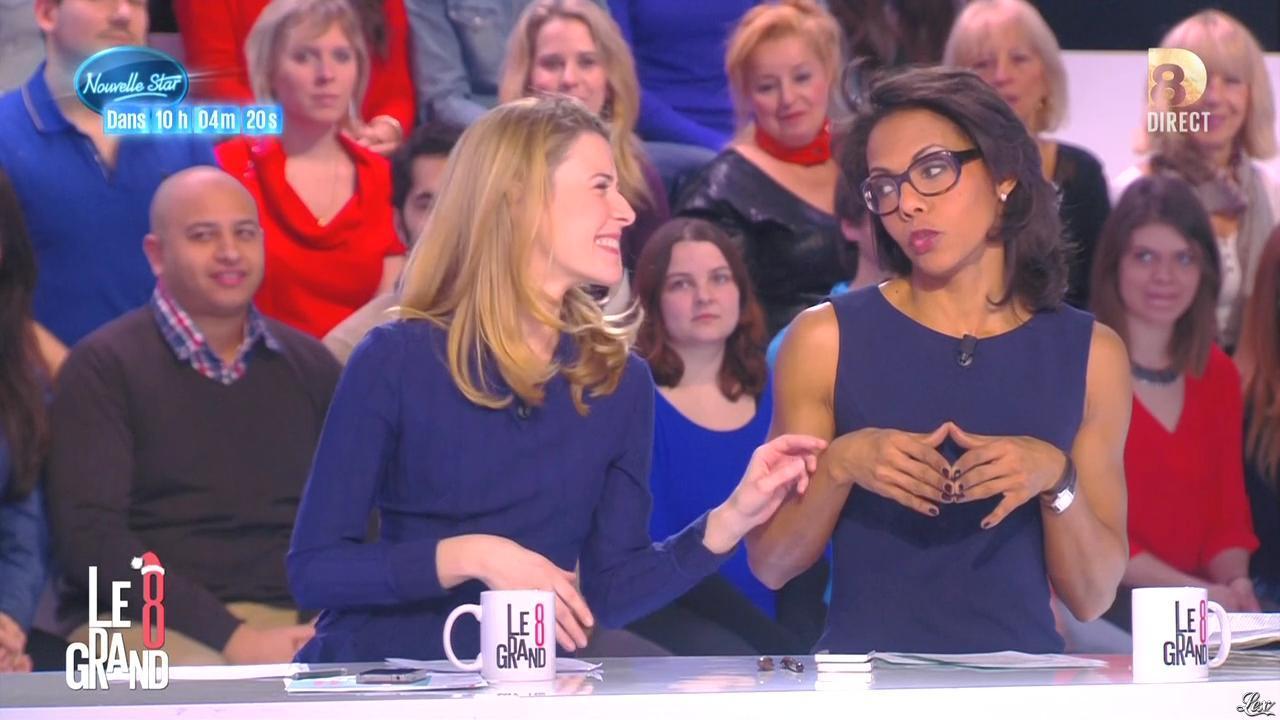 Audrey Pulvar et Elisabeth Bost dans Introduction du Grand 8. Diffusé à la télévision le 11/12/14.