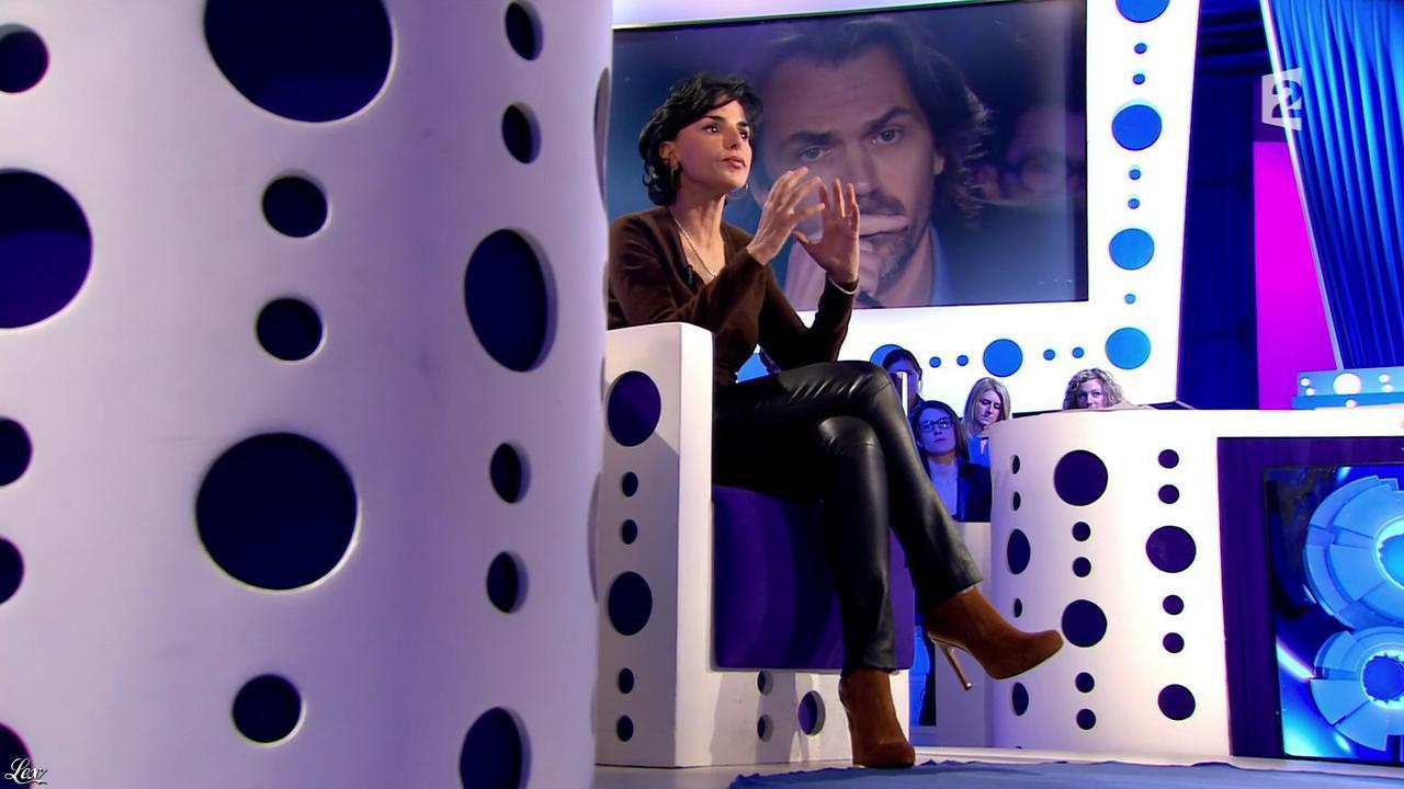 Rachida Dati dans On n'est pas Couché. Diffusé à la télévision le 15/11/14.