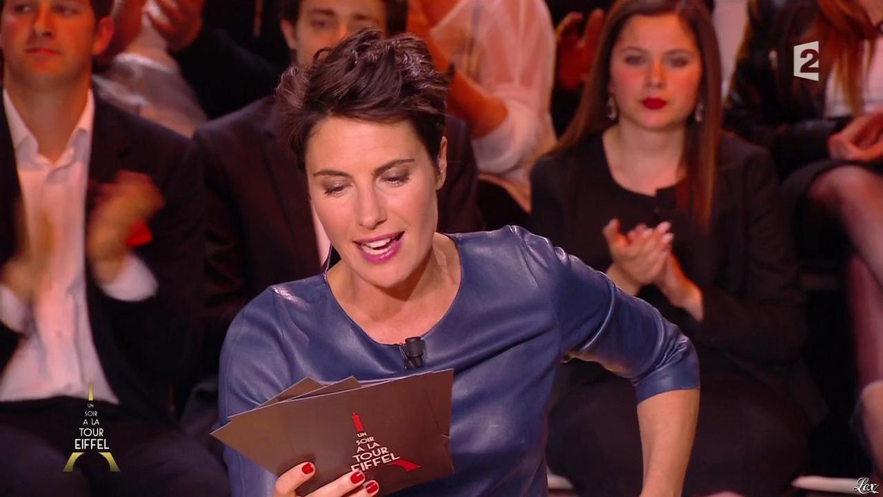 Alessandra Sublet dans un Soir à la Tour Eiffel. Diffusé à la télévision le 29/04/15.