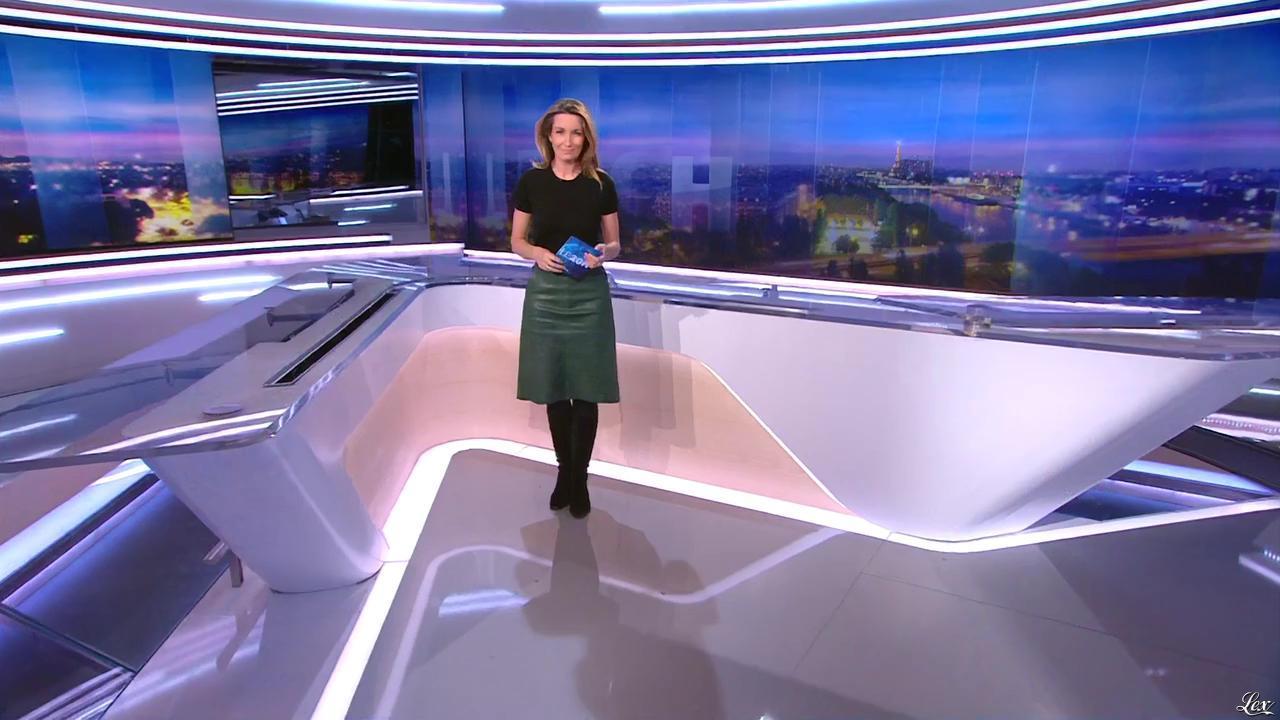 Anne Claire Coudray dans le 20h. Diffusé à la télévision le 19/12/15.
