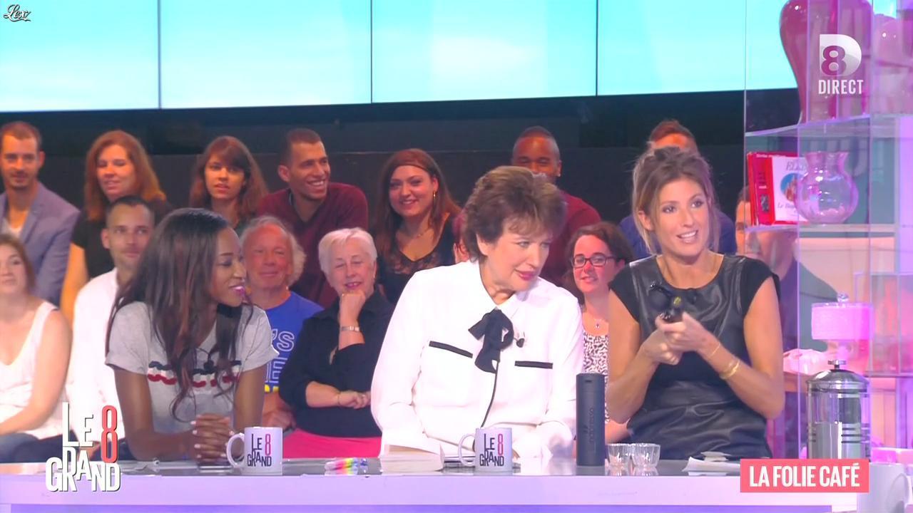Hapsatou Sy et Caroline Ithurbide dans le Grand 8. Diffusé à la télévision le 21/09/15.