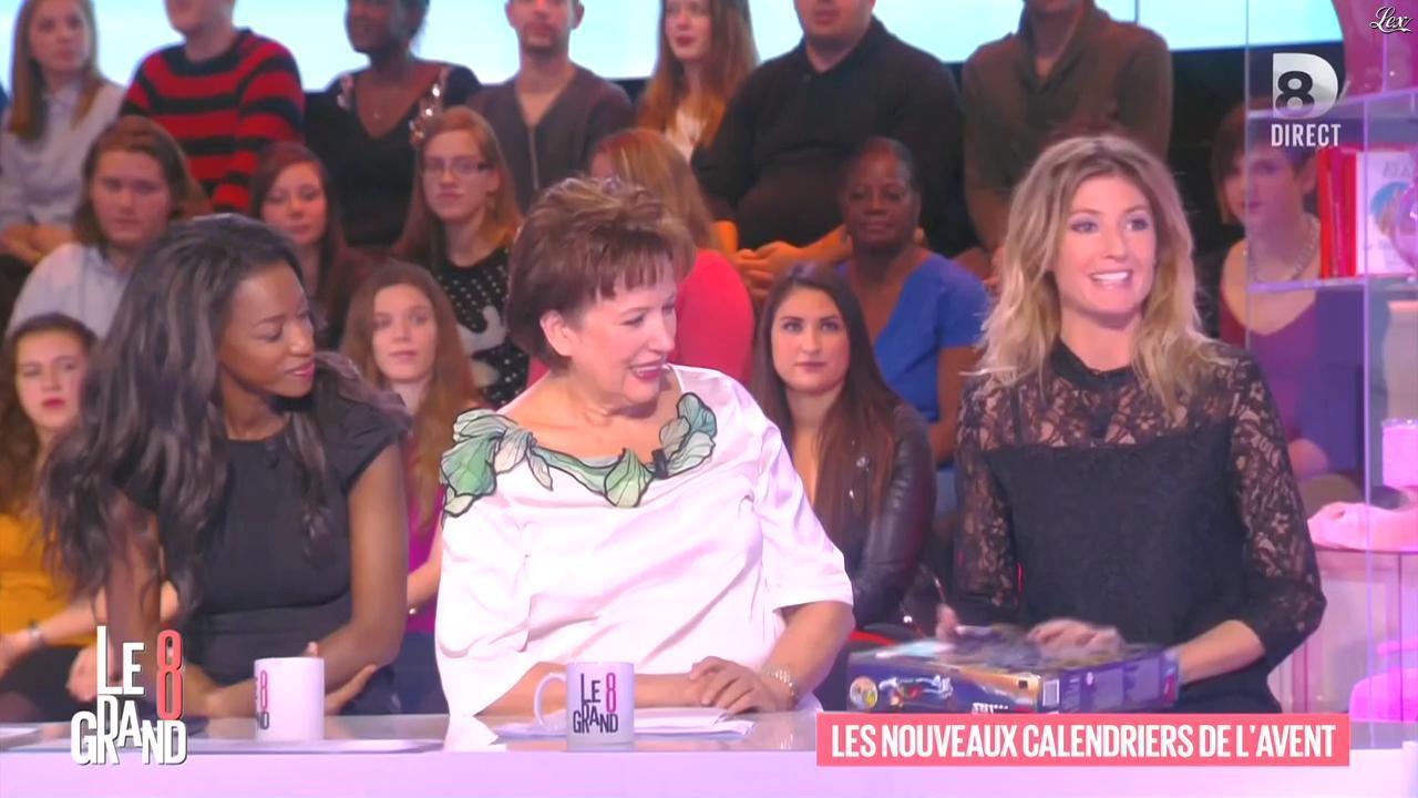 Hapsatou Sy et Caroline Ithurbide dans le Grand 8. Diffusé à la télévision le 26/11/15.