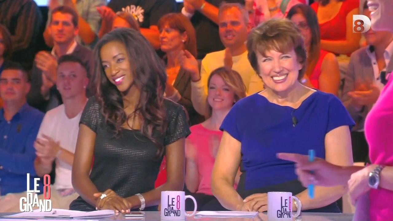 Hapsatou Sy dans le Grand 8. Diffusé à la télévision le 11/09/15.