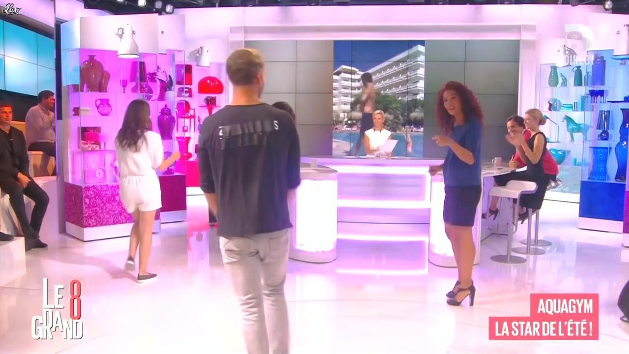 Laurence Ferrari et Aïda Touihri dans le Grand 8. Diffusé à la télévision le 01/09/15.