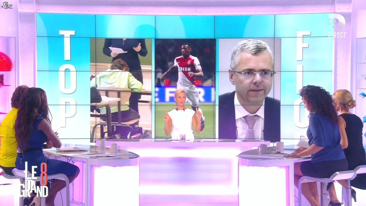 Laurence Ferrari, Hapsatou Sy et Aïda Touihri dans le Grand 8. Diffusé à la télévision le 01/09/15.