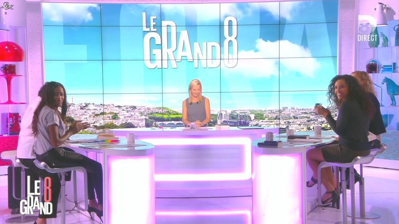 Laurence Ferrari, Hapsatou Sy et Aïda Touihri dans le Grand 8. Diffusé à la télévision le 21/09/15.