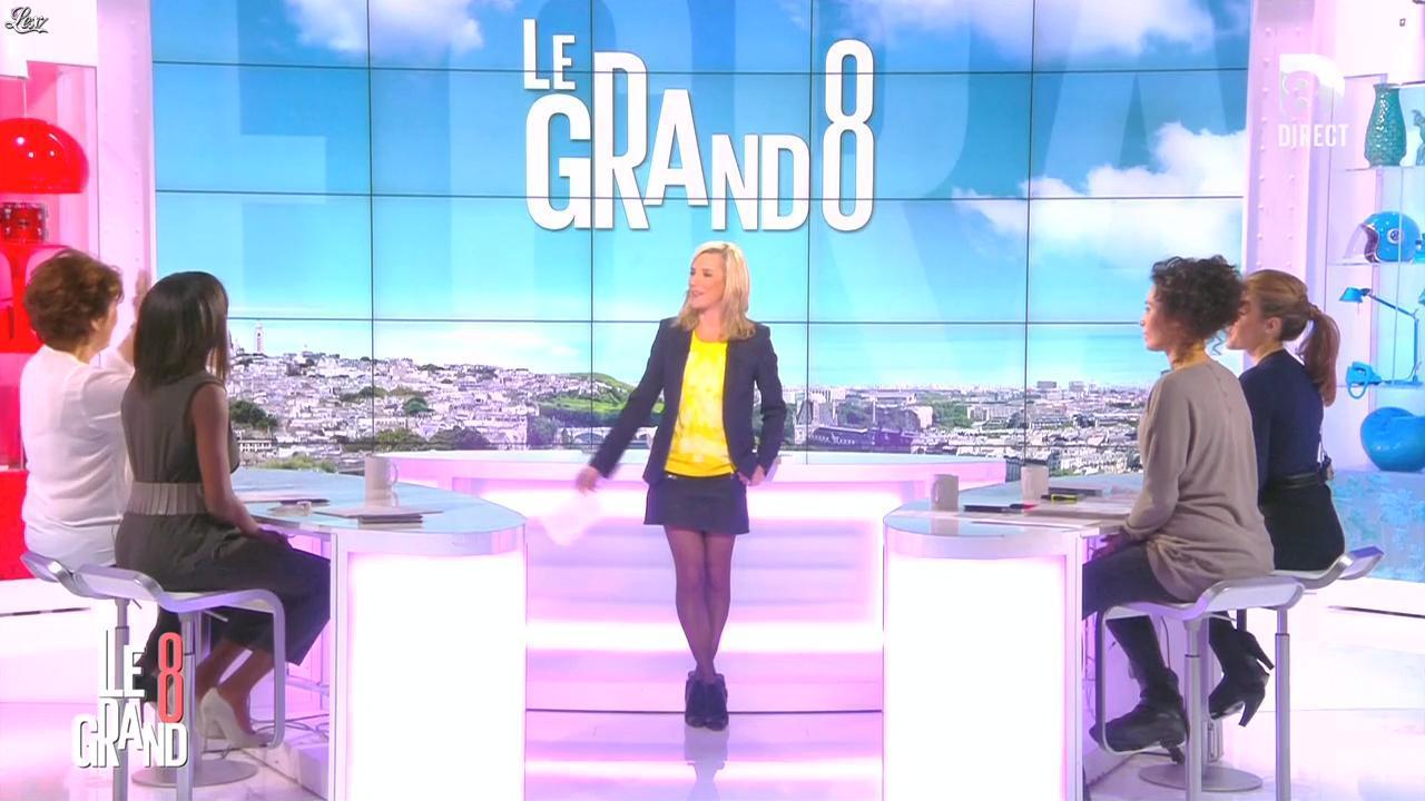Laurence Ferrari, Hapsatou Sy et Aïda Touihri dans le Grand 8. Diffusé à la télévision le 25/01/16.