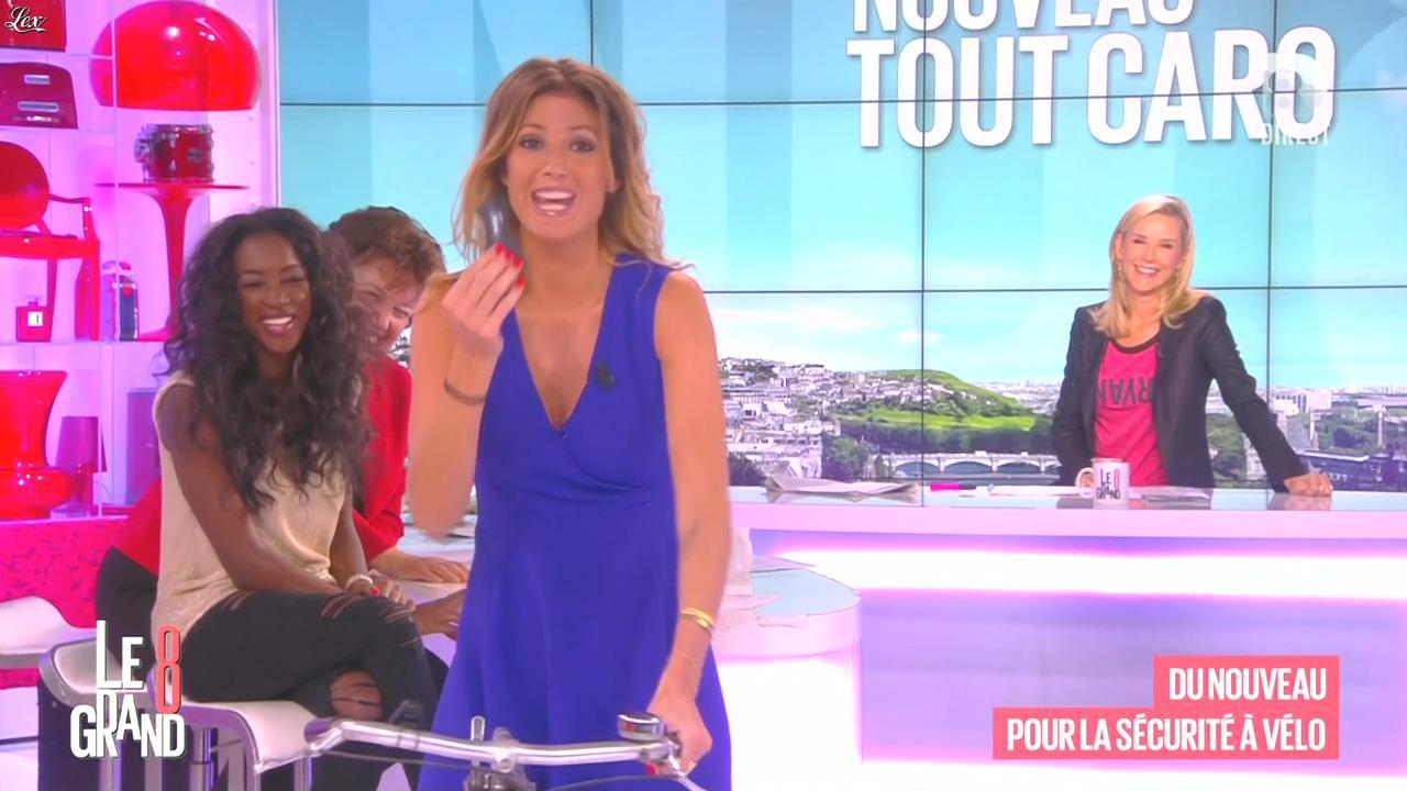 Laurence Ferrari, Hapsatou Sy et Caroline Ithurbide dans le Grand 8. Diffusé à la télévision le 28/09/15.