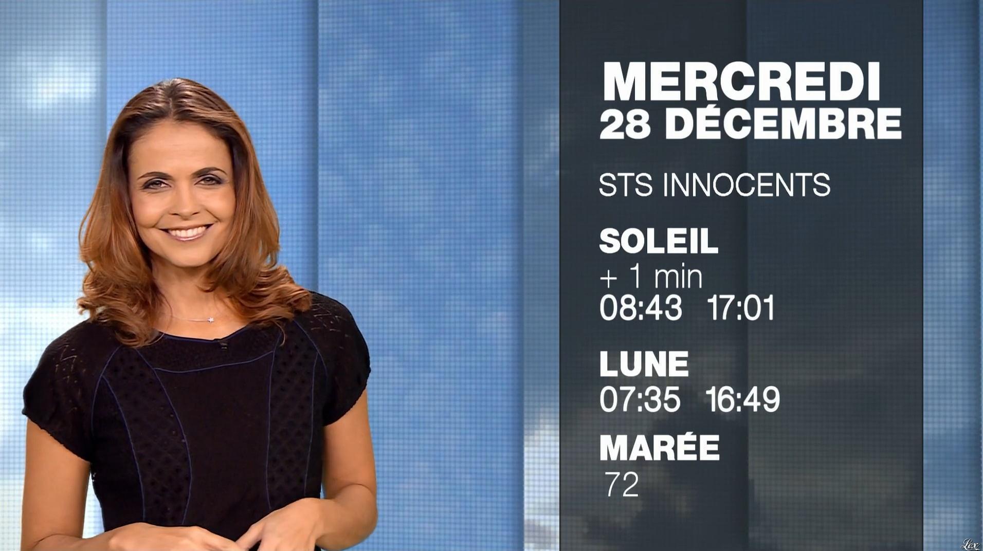 Cali Morales à la Météo du Soir. Diffusé à la télévision le 27/12/16.