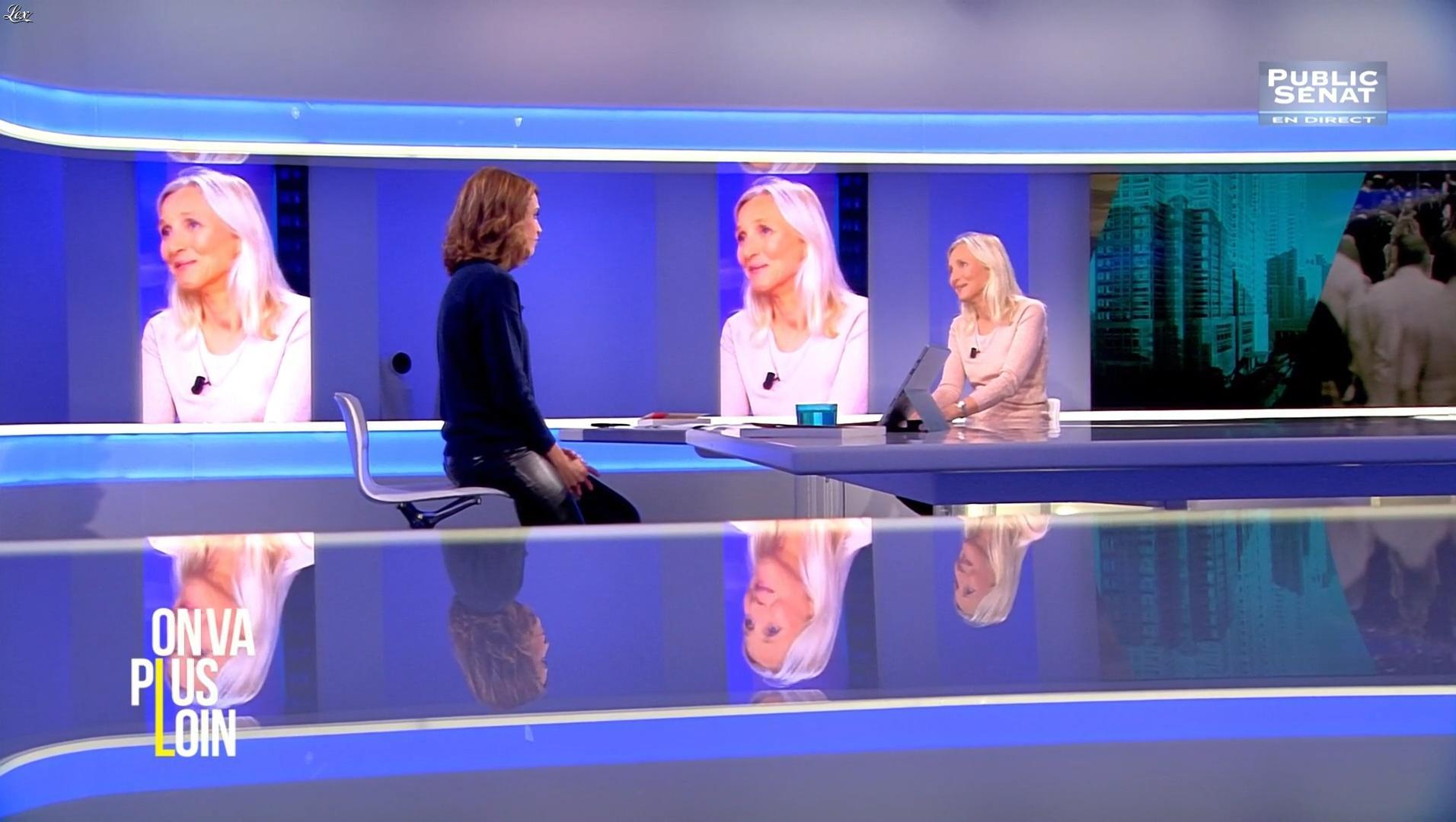 Sonia Mabrouk dans On Va Plus Loin. Diffusé à la télévision le 12/12/16.