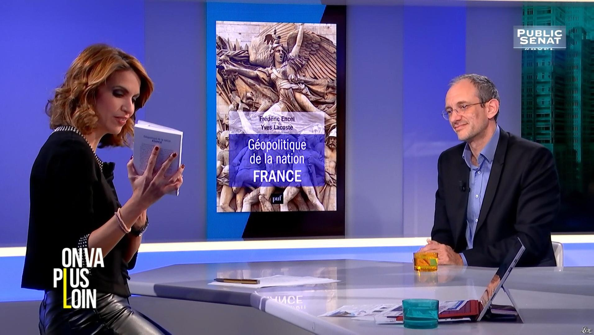 Sonia Mabrouk dans On Va Plus Loin. Diffusé à la télévision le 28/11/16.