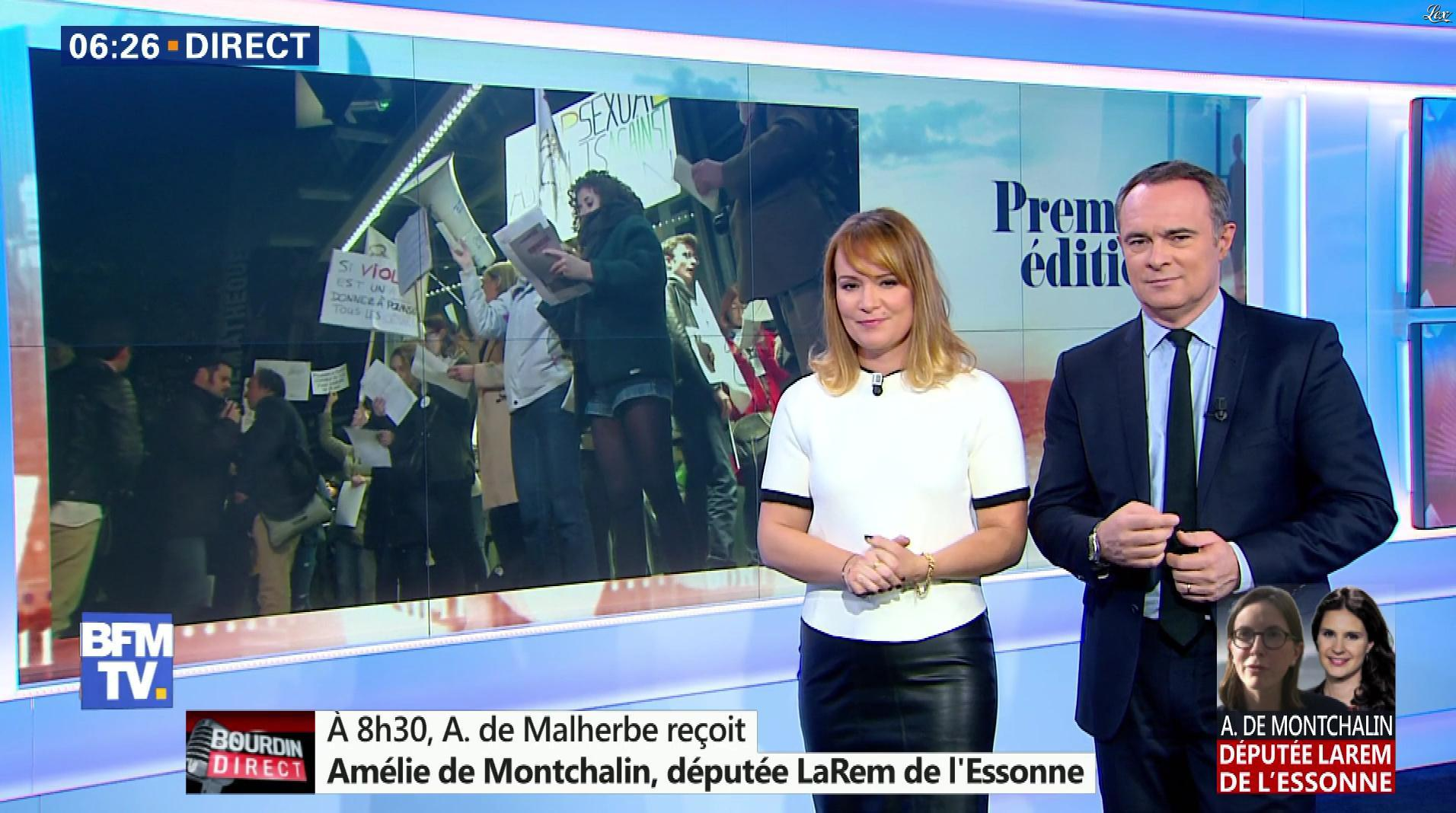 Adeline Francois dans Première Edition. Diffusé à la télévision le 31/10/17.