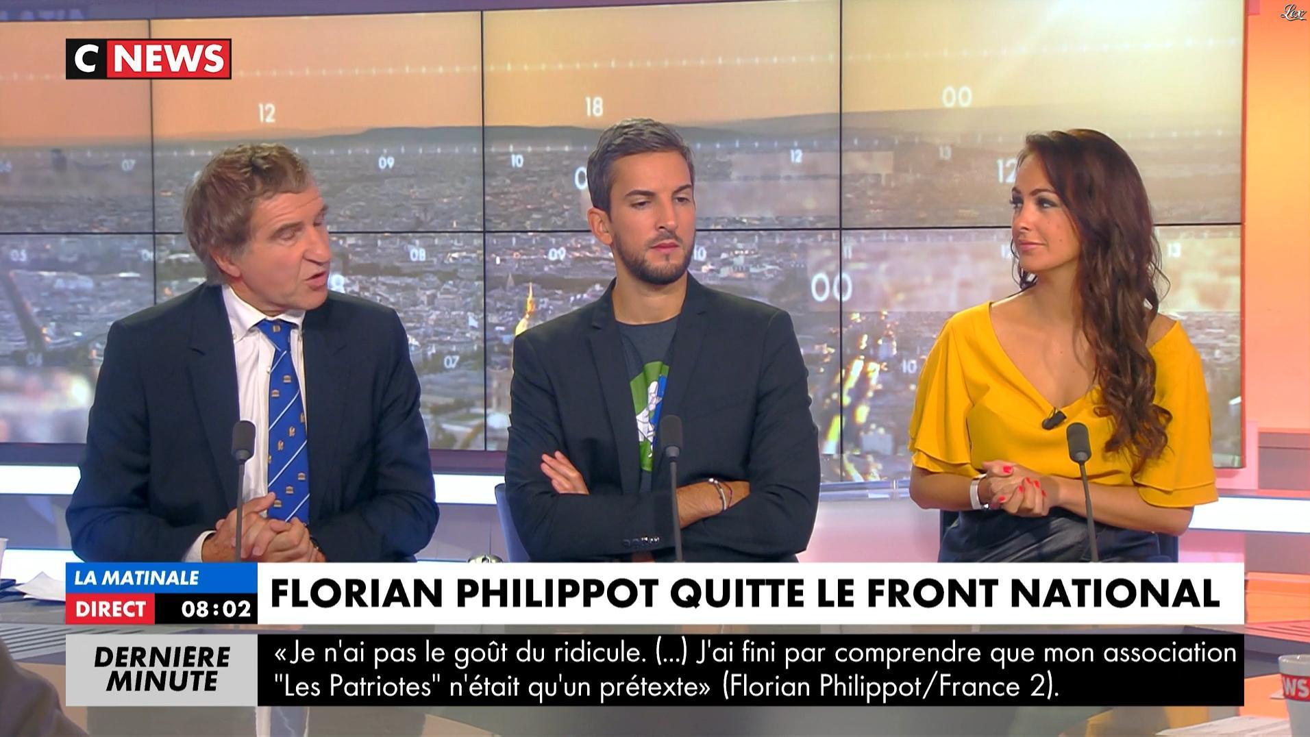 Alexandra Blanc dans la Matinale de C News. Diffusé à la télévision le 21/09/17.