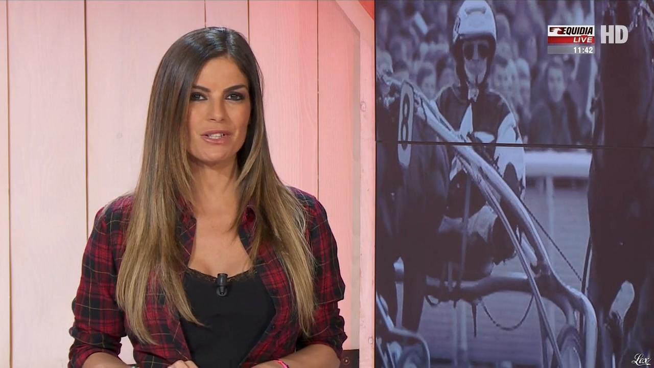 Amélie Bitoun dans un Jour aux Courses. Diffusé à la télévision le 06/06/17.