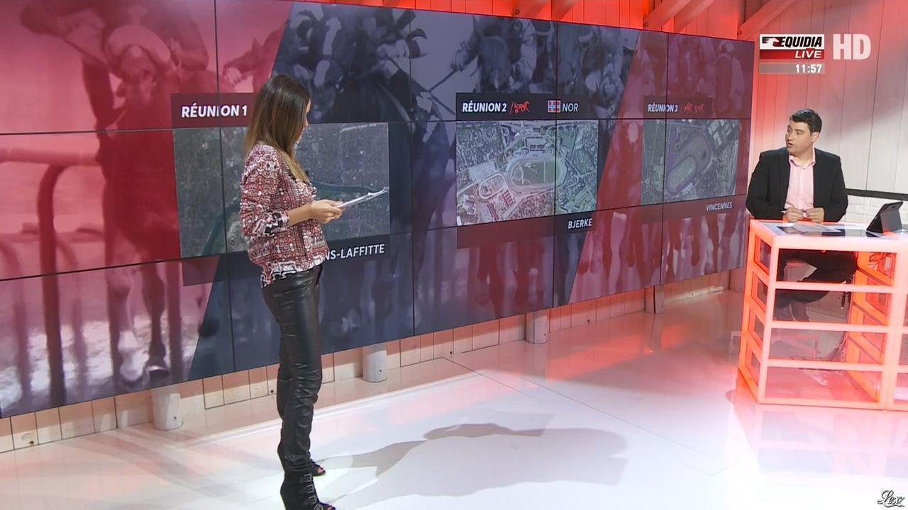 Amélie Bitoun dans un Jour aux Courses. Diffusé à la télévision le 11/09/17.