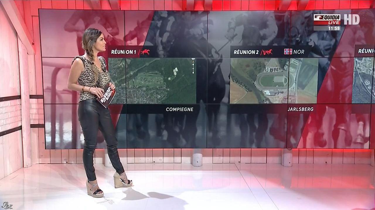 Amélie Bitoun dans un Jour aux Courses. Diffusé à la télévision le 12/06/17.