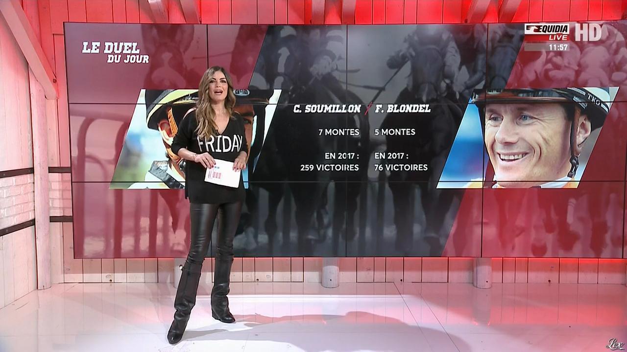 Amélie Bitoun dans un Jour aux Courses. Diffusé à la télévision le 14/11/17.
