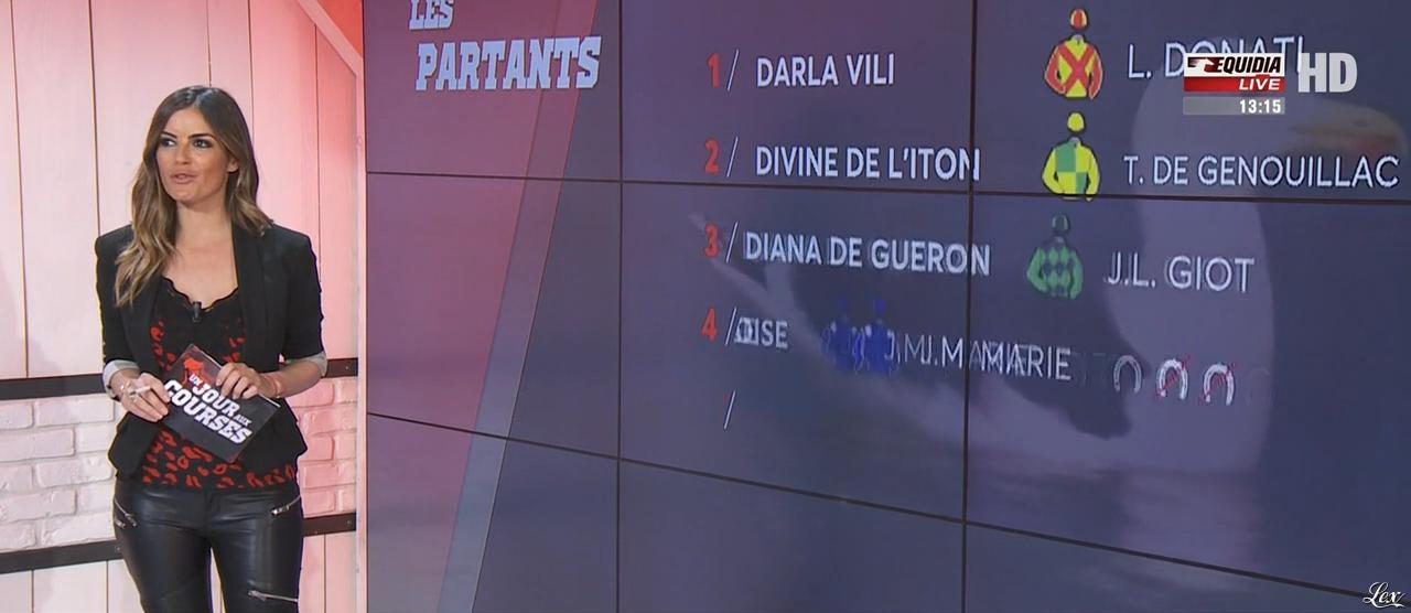 Amélie Bitoun dans un Jour aux Courses. Diffusé à la télévision le 27/03/17.
