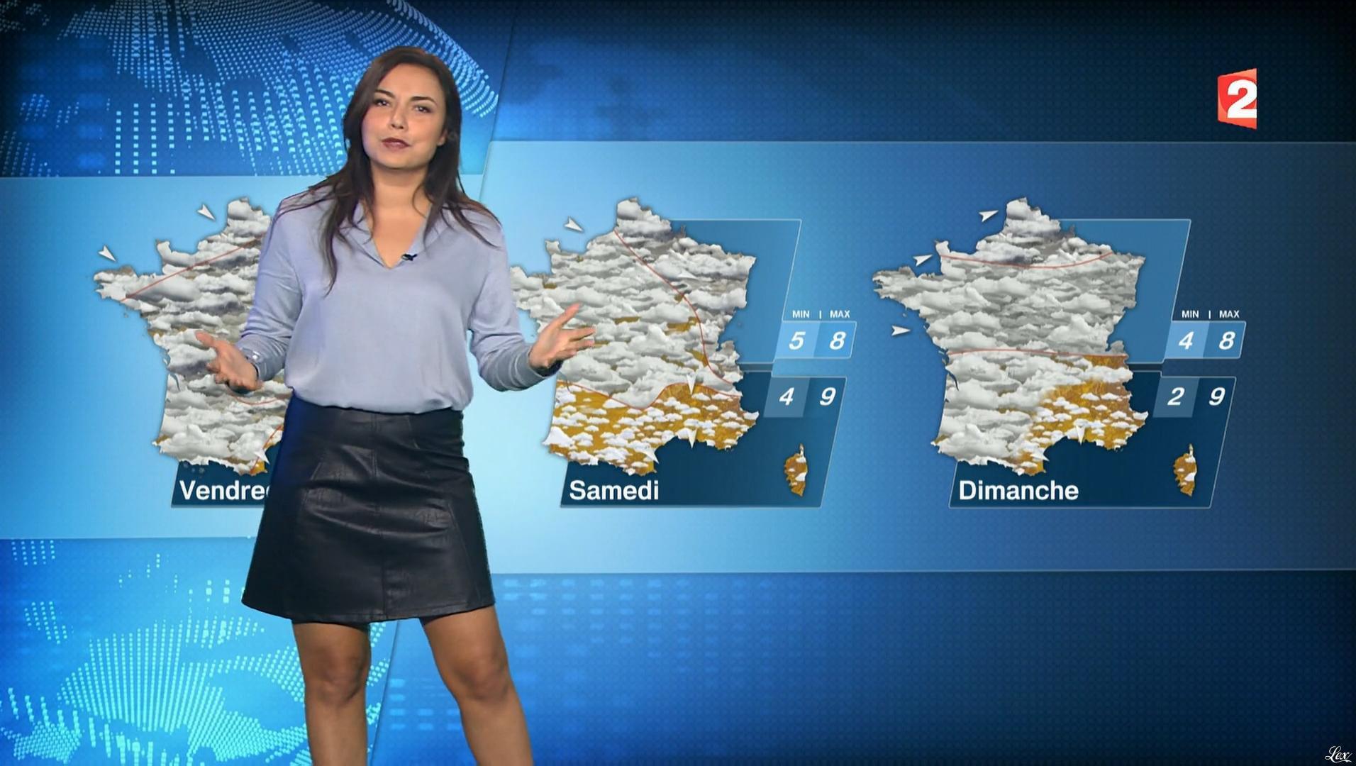 Anaïs Baydemir à la Météo de Midi. Diffusé à la télévision le 18/12/17.